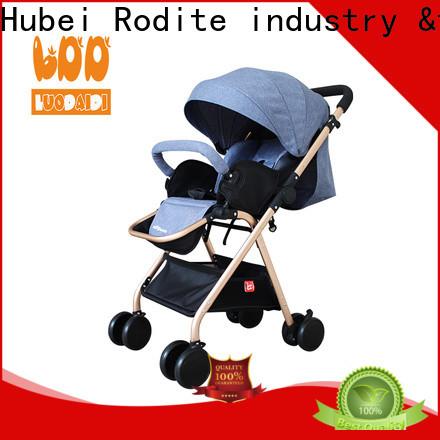 stainless 3 wheel baby stroller supplier for baby girl