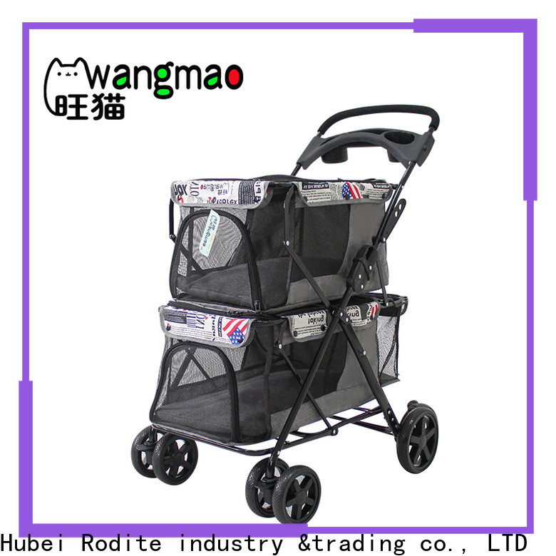 Rodite heavy duty wholesale pet strollers manufacturer for shopping