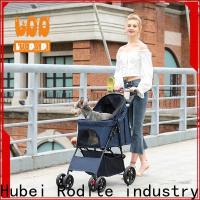 Rodite customized double pet pram wholesale for medium dogs