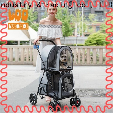 adjustable 3 wheel pet stroller low price for medium dogs