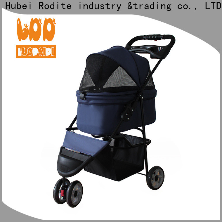 luxury ibiyaya 3 wheel dog stroller for small and medium dogs with cup holders factory for large dogs