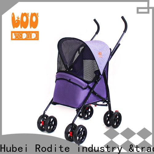 Rodite beautiful pink dog strollers for small dogs factory for large dogs