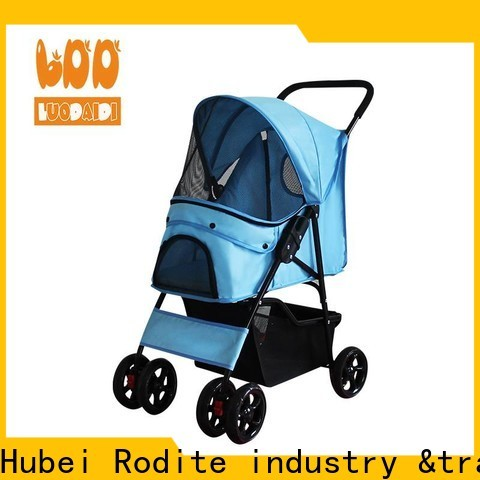Rodite custom double pet stroller for cats supply for cats