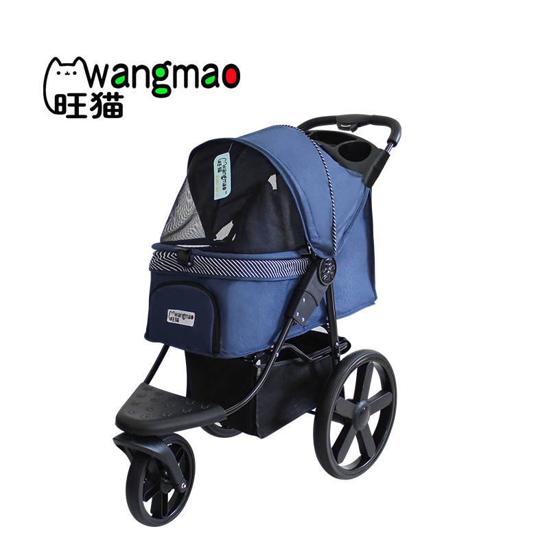 Luxury pet stroller with big wheels for dogs outdoor travel