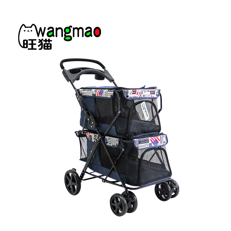 product-Rodite-Twin double pet stroller with 2 pet carrier for 2 dogs-img