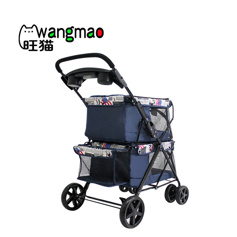 product-Twin double pet stroller with 2 pet carrier for 2 dogs-Rodite-img-1