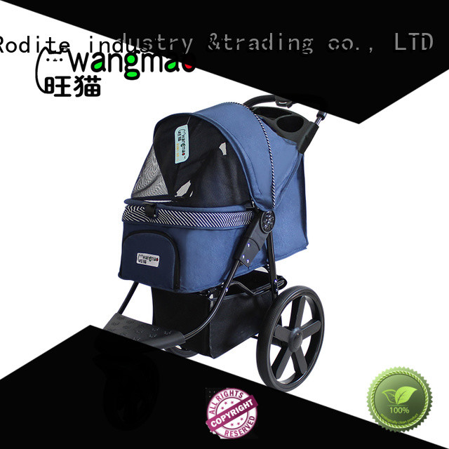 Rodite stainless dog pet stroller low price for pets