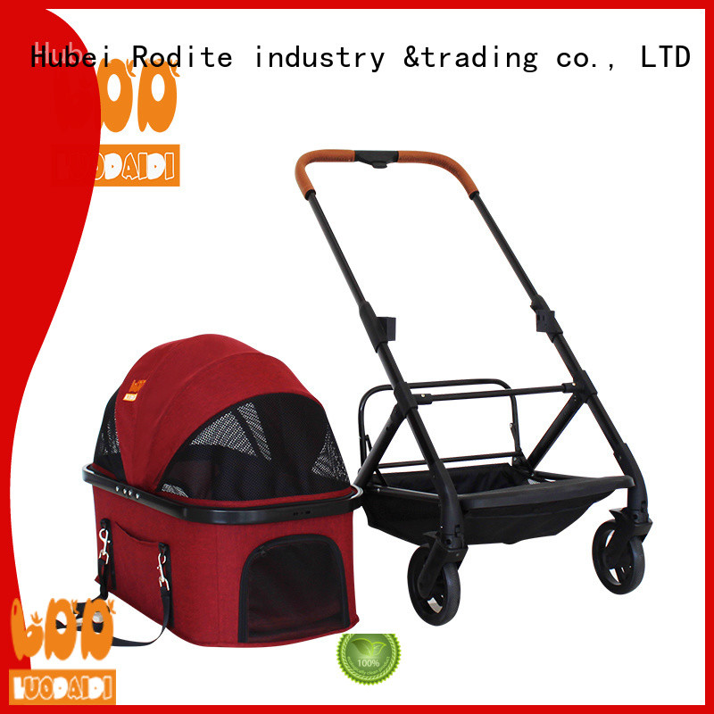 Rodite stainless small dog stroller low price for shopping