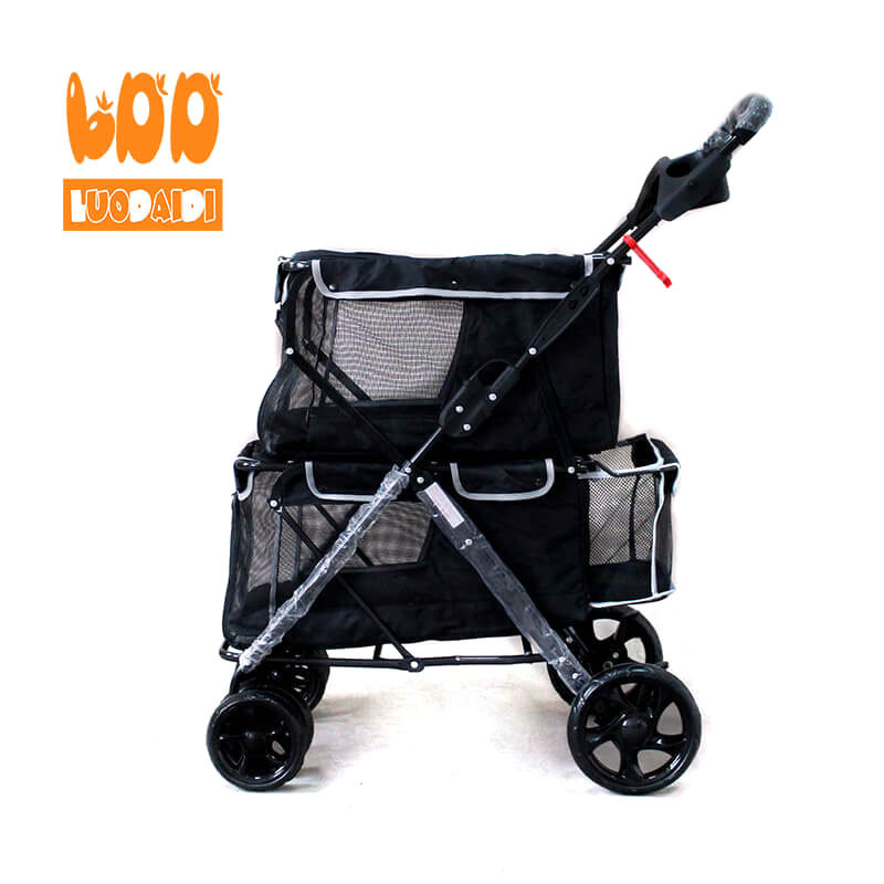2 in 1  double pet stroller for dogs-Rodite