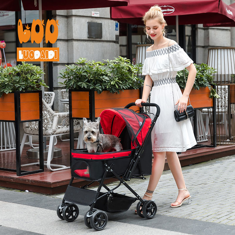 China manufacturer low price 4 wheels dog stroller