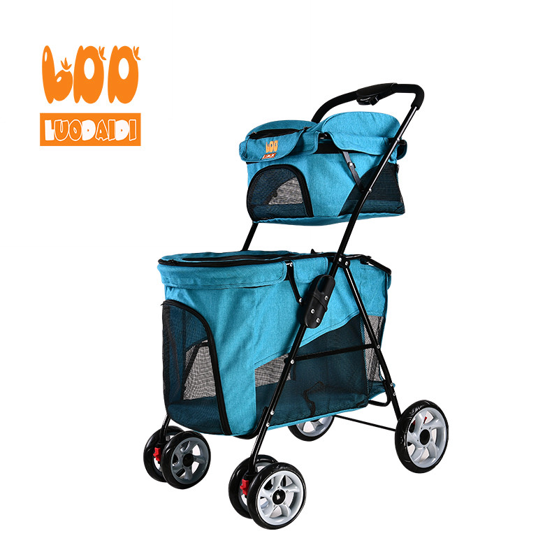 Foldable dog carriage double deck pet stroller BL11-baby buggy,pet stroller,stroller manufacturer-Rodite