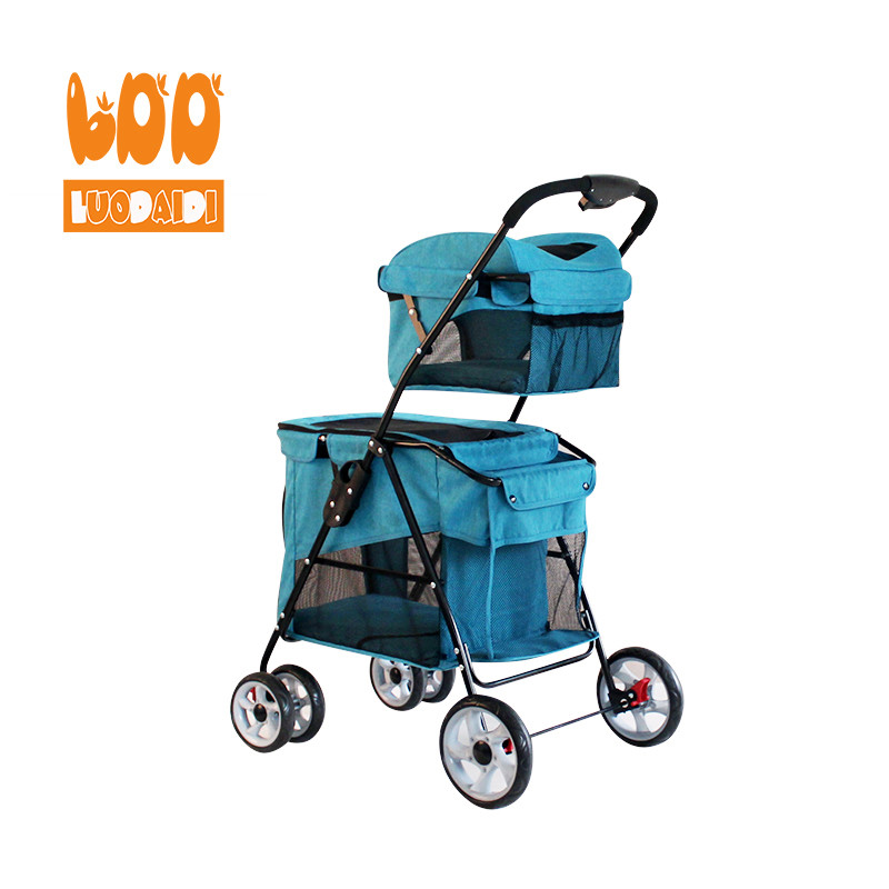 Rodite-Foldable dog carriage double deck pet stroller BL11