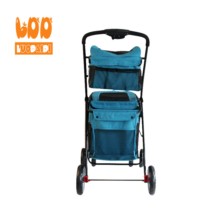 Foldable dog carriage double deck pet stroller BL11-Rodite