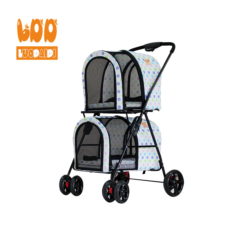 Twin stroller for dogs BL12-baby buggy-pet stroller-stroller manufacturer-Rodite