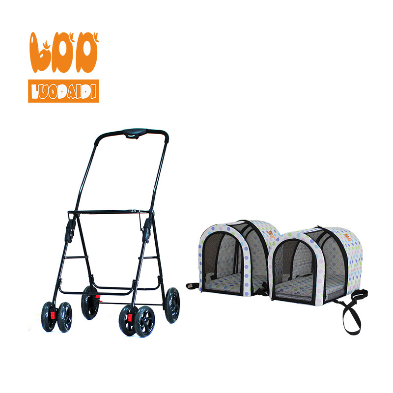Twin stroller for dogs BL12-foldable baby stroller-pet gear stroller-stroller manufacturer-Rodite