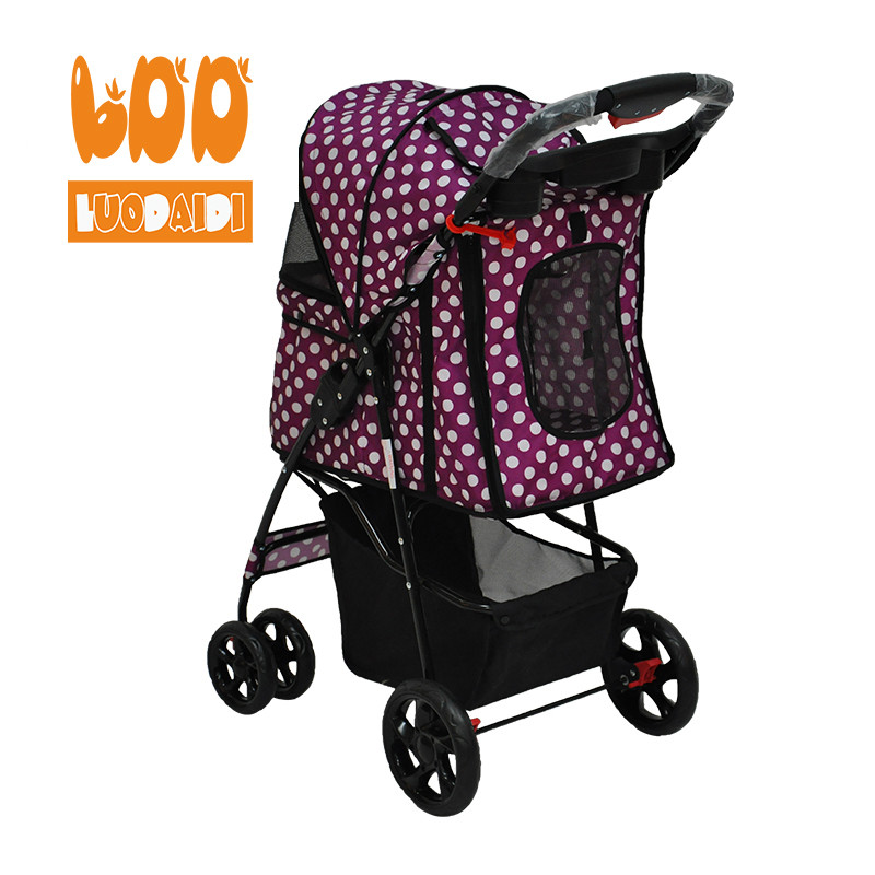 4 wheel pet stroller for medium dog SP02-foldable baby stroller-pet gear stroller-stroller manufacturer-Rodite