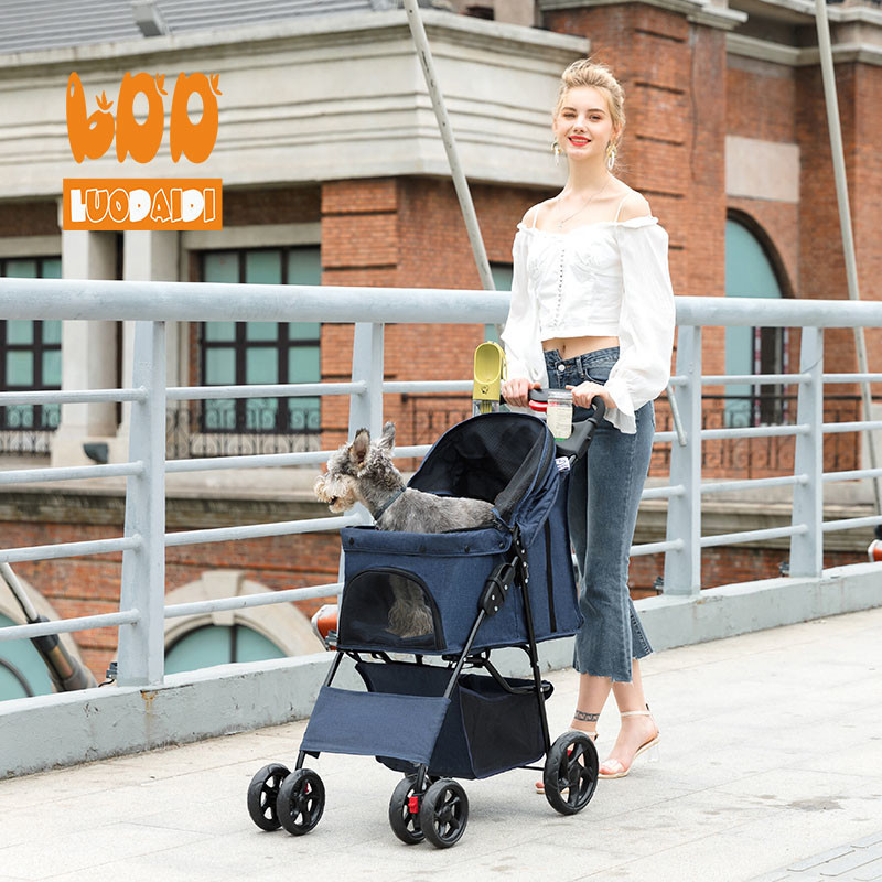 4 wheel pet stroller for medium dog SP02