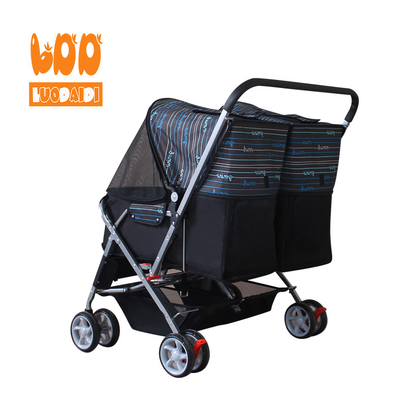 product-Rodite-Double pet trolley hot folding pet stroller SP04-img