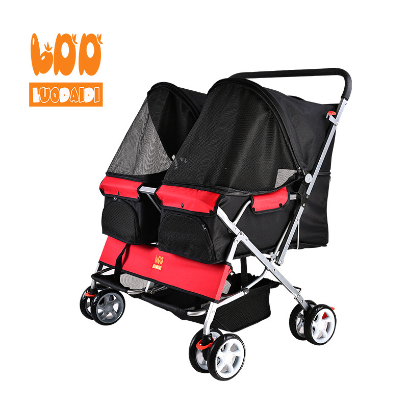 product-Double pet trolley hot folding pet stroller SP04-Rodite-img-1