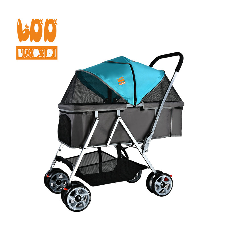 Best selling dog stroller beautiful pet trolley