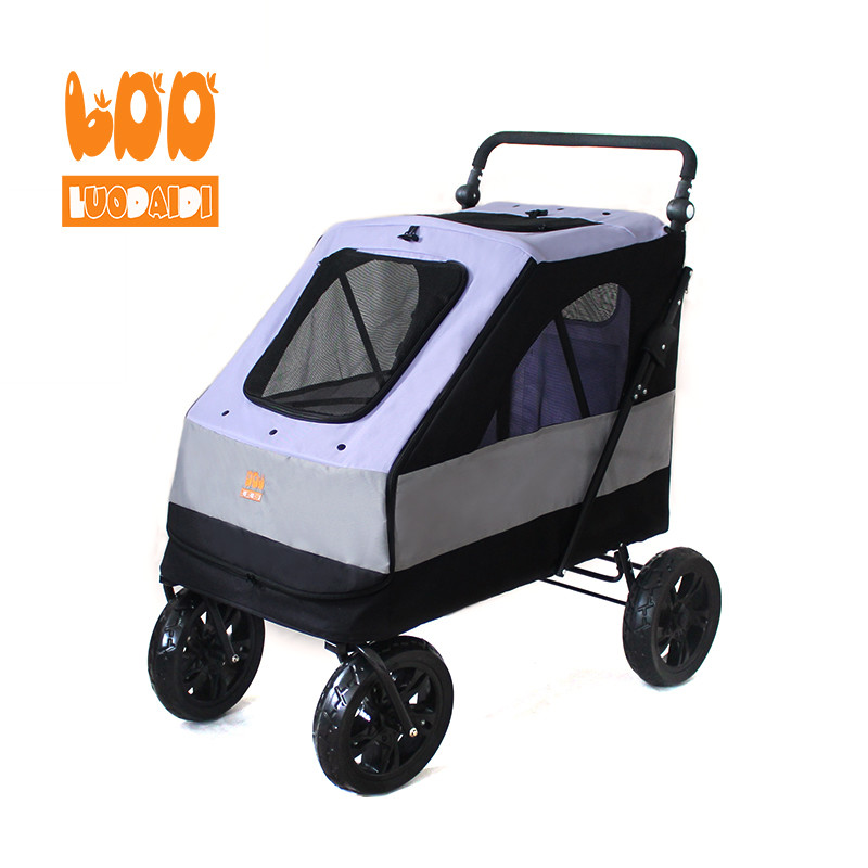 Luxury pet stroller for large dogs