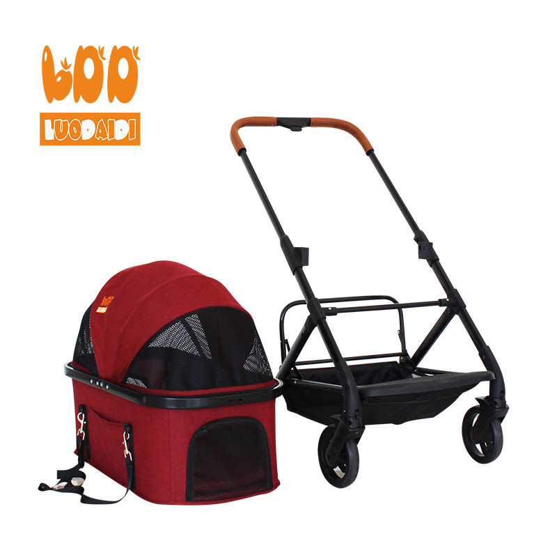 Adjustable handle dog stroller made in china LD04