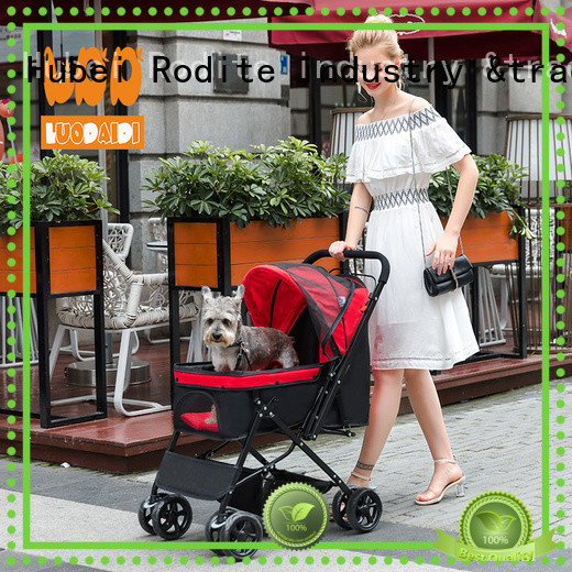 Rodite customized pet carrier stroller low price for shopping