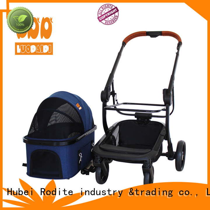 foldable jogger pet stroller supplier for large dogs
