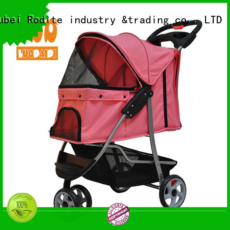 Rodite heavy duty double dog stroller manufacturer for shopping