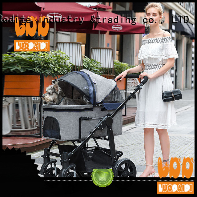 luxury pet strollers for large dogs low price for shopping