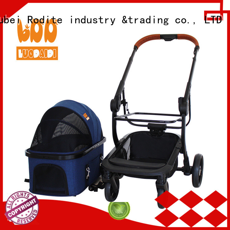 stainless jogger pet stroller supplier for pets