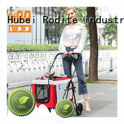 Rodite foldable 3 wheel pet stroller manufacturer for cats