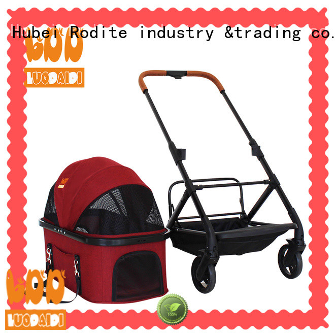 Rodite foldable pet trolley carrier wholesale for large dogs