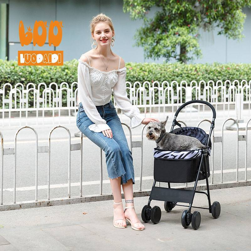 Pet stroller for small dogs cheap pet trolley parts