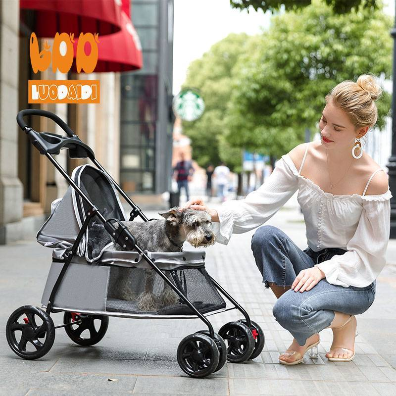 Chinese wholesale foldable pet stroller SP01-baby buggy-pet stroller-stroller manufacturer-Rodite