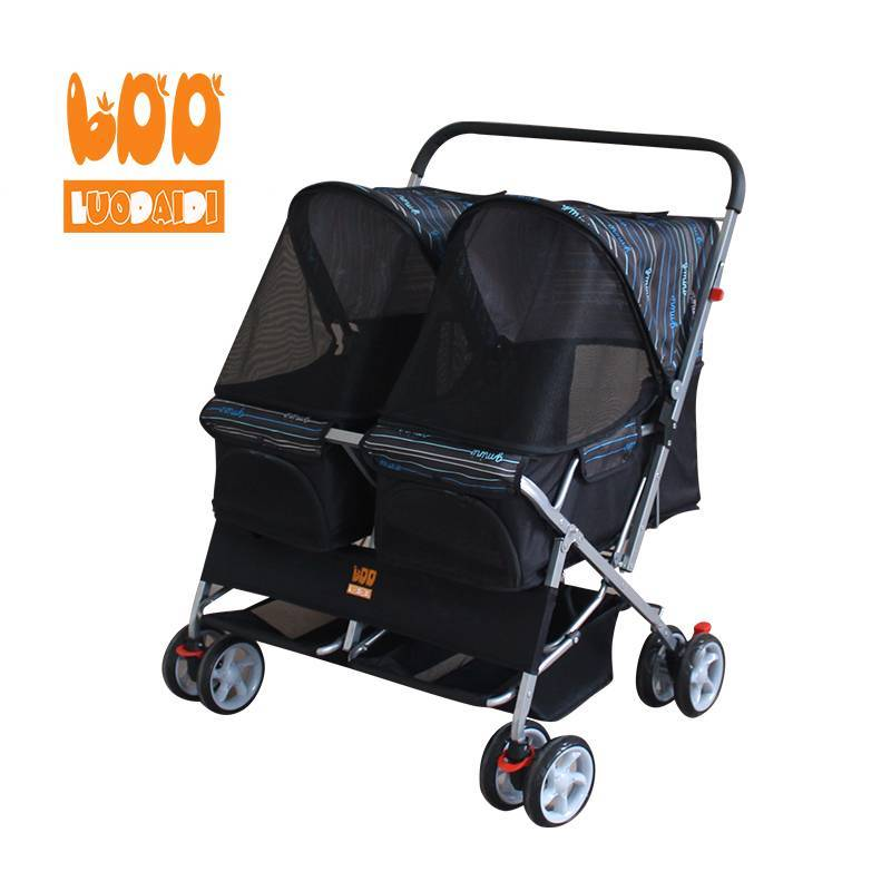 Double pet trolley hot folding pet stroller SP04