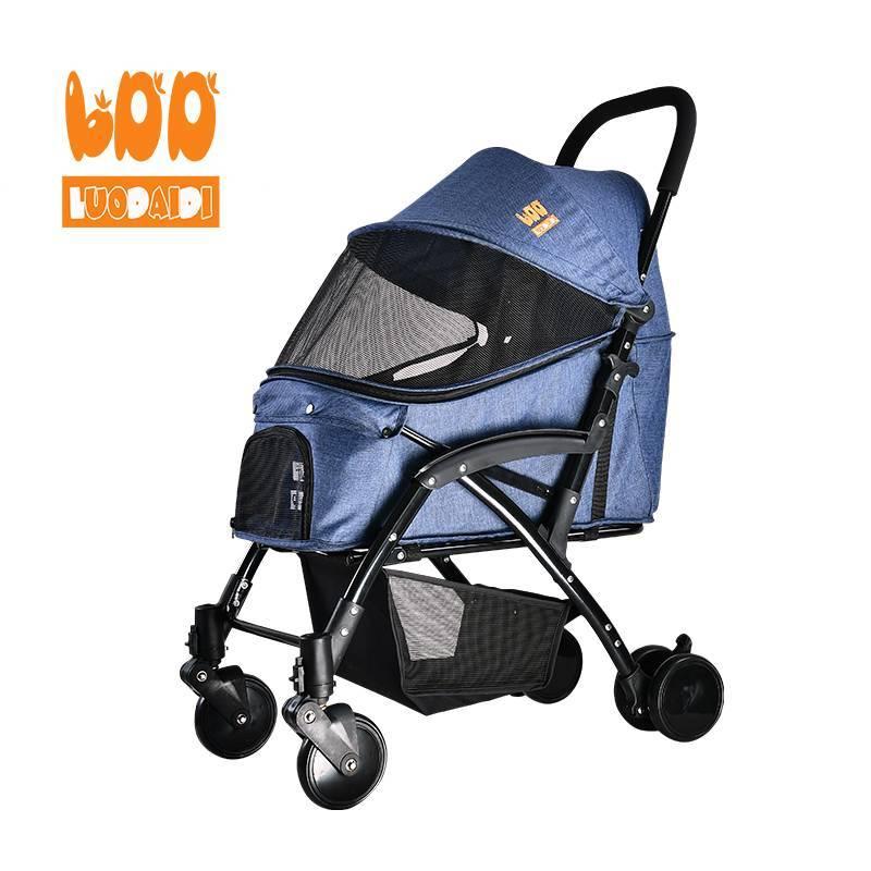 Folding dog strollers medium dog pram