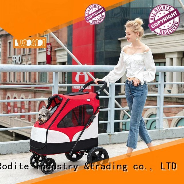 foldable dog pram manufacturer for medium dogs