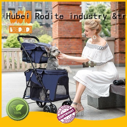 stainless dog pram low price for small dogs