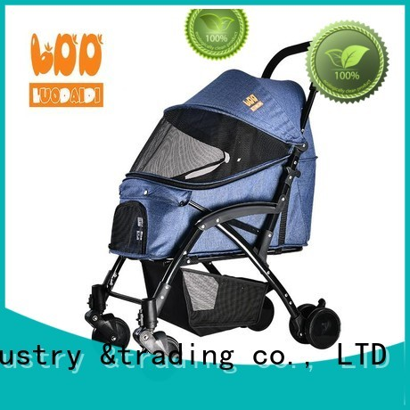 folding dog trolley supplier for cats