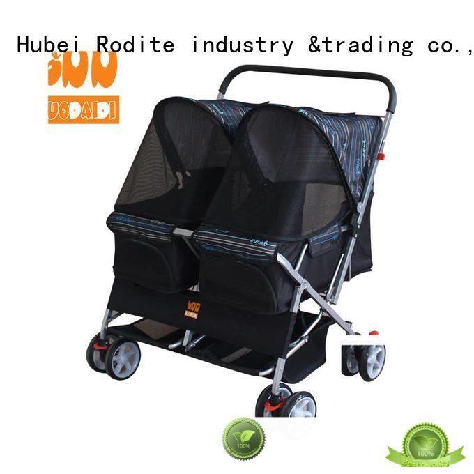 Rodite double dog stroller supplier for medium dogs