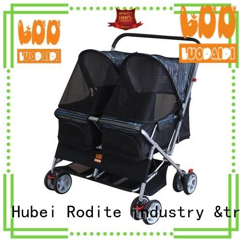 Rodite double pet stroller wholesale for pets