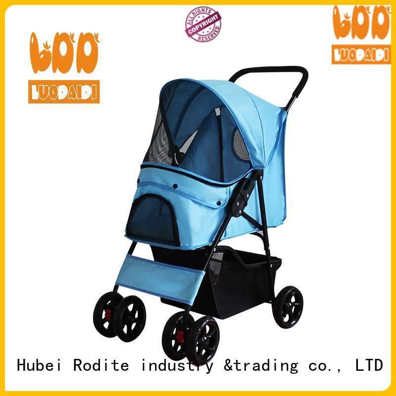 Rodite 4 wheels trolley supplier for medium dogs