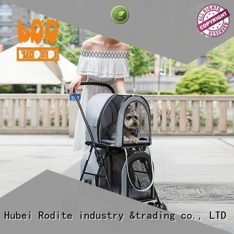 adjustable pet carrier stroller supplier for shopping