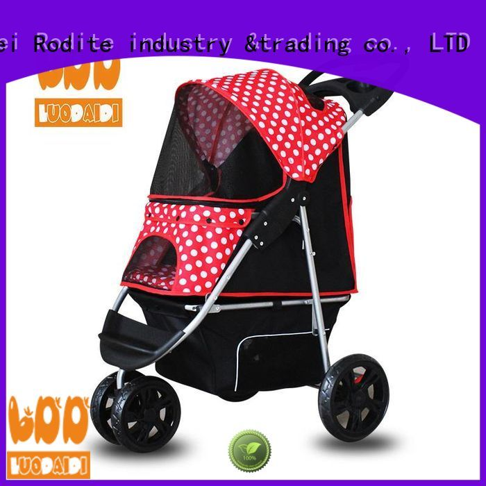 stainless dog pet stroller wholesale for large dogs